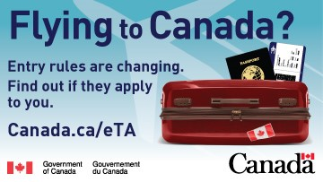 Canada entry rule change promotion